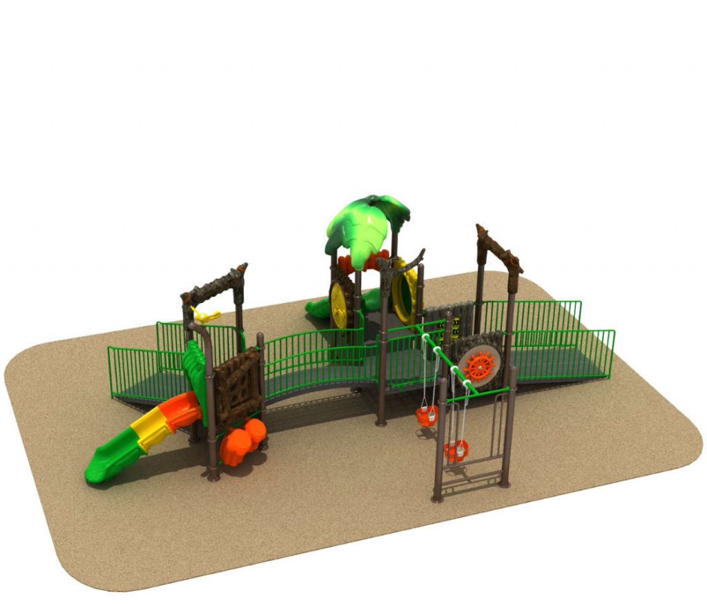 parco giochi per bambini in carrozzina