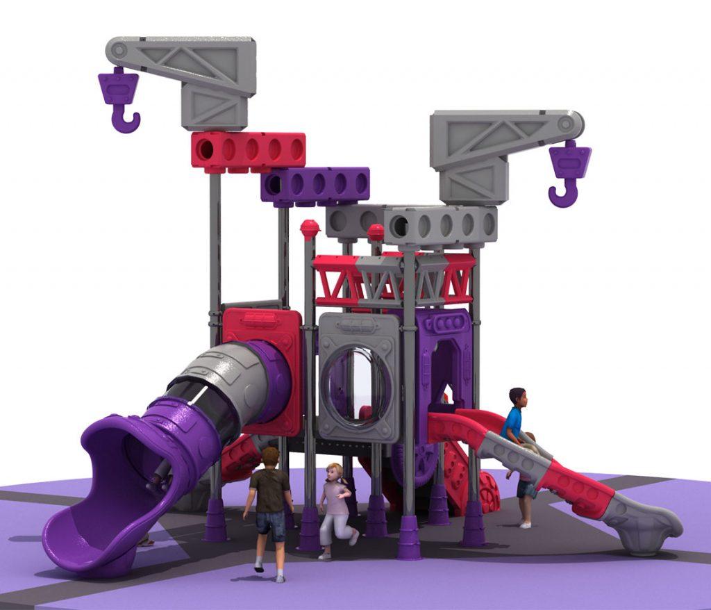 Giochi per Parchi a tema Costruzioni - CRANE TRUCK Castello 6011B