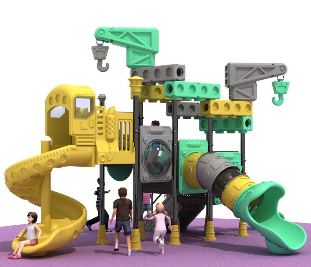 Giochi per Parchi a tema Costruzioni - CRANE TRUCK Castello 6012B