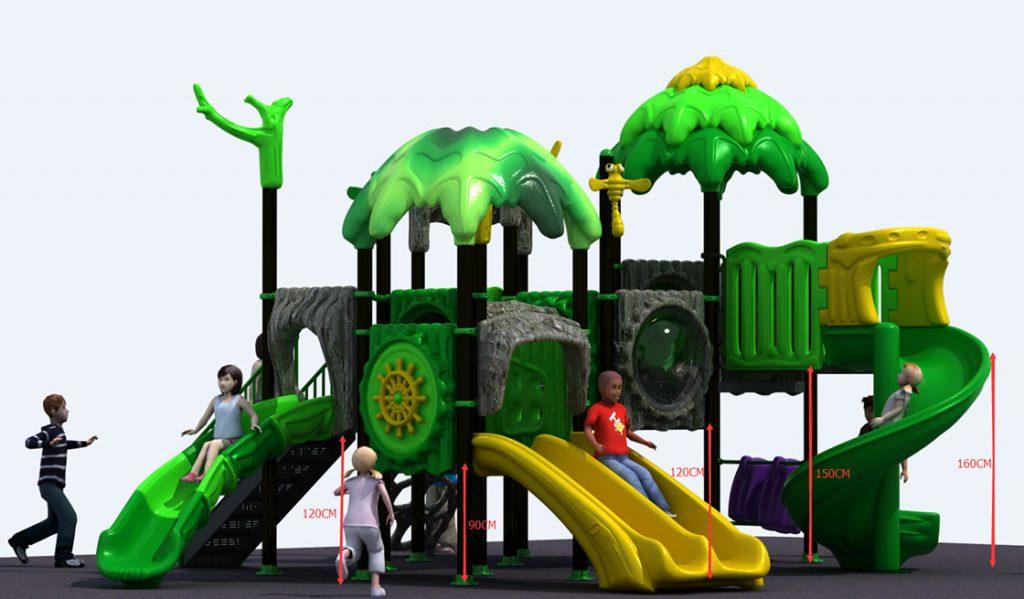 castello per parco giochi