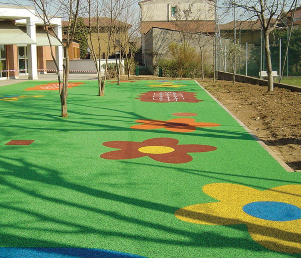 pavimentazioni antitrauma per parchi gioco