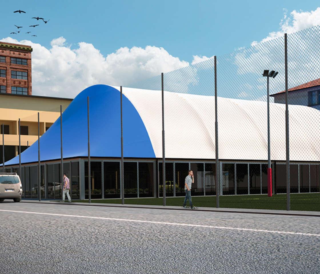 Coperture Per Centri Sportivi In Lombardia Evolplay Srl