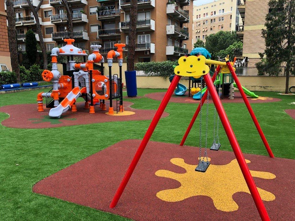 Pavimentazione antitrauma per scuole